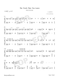 The truth that you leave-Numbered-Musical-Notation-Preview-1