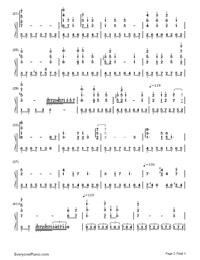 Castle in the Sky-Joe Hisaishi-Numbered-Musical-Notation-Preview-2
