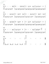 Childhood Memory-Childhood Numbered Musical Notation Preview 3