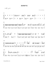 You Exist in My Song-Numbered-Musical-Notation-Preview-1