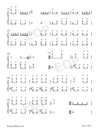 Turkish March-Alla Turca Numbered Musical Notation Preview 2