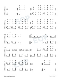 Turkish March-Alla Turca Numbered Musical Notation Preview 4