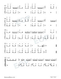 Turkish March-Alla Turca Numbered Musical Notation Preview 5