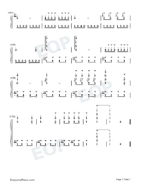 Turkish March-Alla Turca Numbered Musical Notation Preview 7