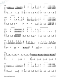 Ballade pour Adeline-Richard Clayderman-Numbered-Musical-Notation-Preview-2