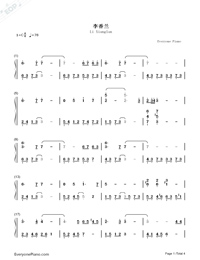 Li Xianglan-Numbered-Musical-Notation-Preview-1