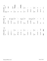 Moon River-Breakfast at Tiffany's Theme-Numbered-Musical-Notation-Preview-2