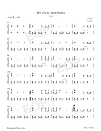 The First Snowflakes-Numbered-Musical-Notation-Preview-1
