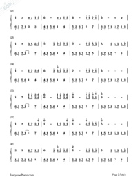 Melody Of The Night 5-Numbered-Musical-Notation-Preview-2