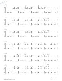 Melody Of The Night 5-Numbered-Musical-Notation-Preview-3