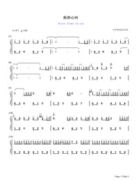 River Flows in You-Yiruma Numbered Musical Notation Preview 1