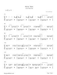 Fairy Tale-Michael Wong-Numbered-Musical-Notation-Preview-1