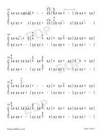 The Path of Wind-Kaze no Torimichi-Numbered-Musical-Notation-Preview-3