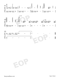 The Path of Wind-Kaze no Torimichi-Numbered-Musical-Notation-Preview-4