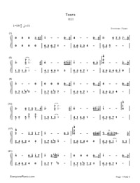 Tears-Numbered-Musical-Notation-Preview-1
