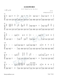 Still Think You Are the Best-Numbered-Musical-Notation-Preview-1