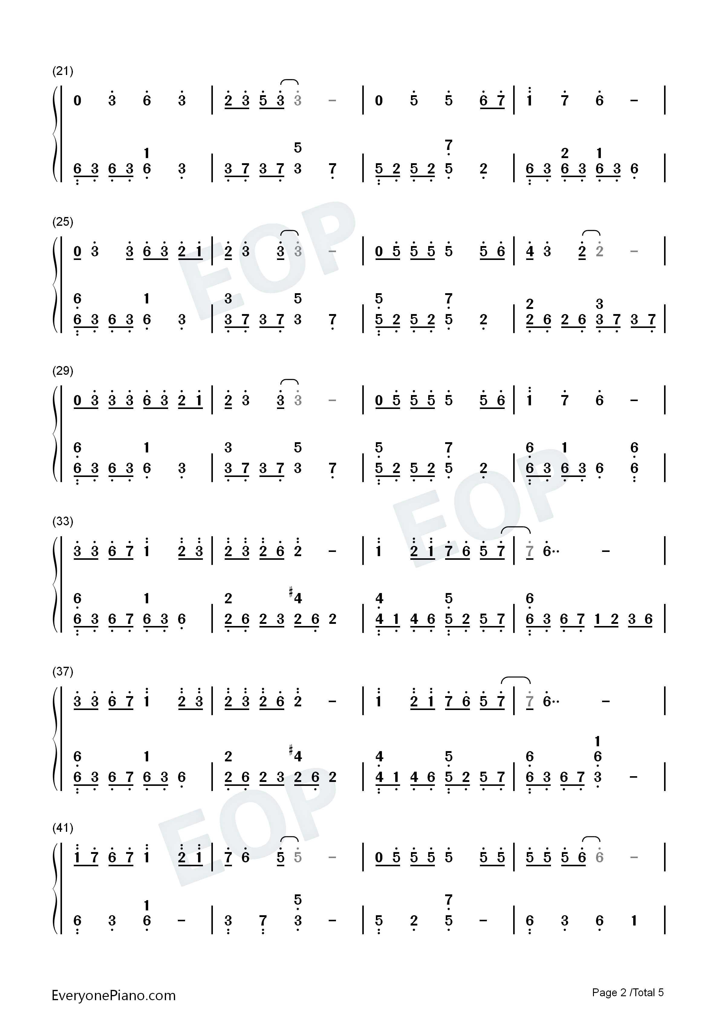 Day by day numbered musical notation preview 2 free piano sheet listen now print sheet day by day numbered musical notation preview 2 hexwebz Image collections