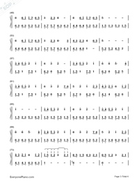 Snowdream-Bandari(New Age Music)-Numbered-Musical-Notation-Preview-3