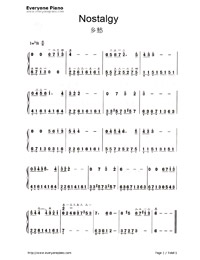 Nostalgy-Richard Clayderman-Numbered-Musical-Notation-Preview-1