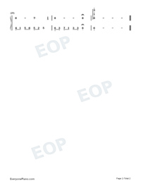 Melody Of The Night 1-Numbered-Musical-Notation-Preview-2