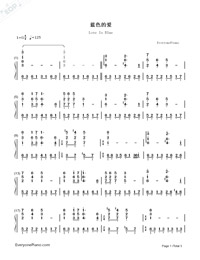 Love Is Blue-Numbered-Musical-Notation-Preview-1