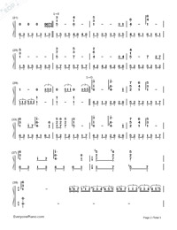 Love Is Blue-Numbered-Musical-Notation-Preview-2