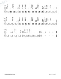 Love Is Blue-Numbered-Musical-Notation-Preview-3