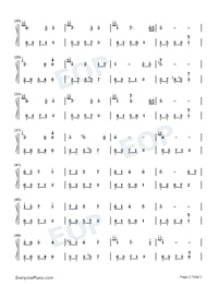 Melody Of The Night 2-Numbered-Musical-Notation-Preview-2