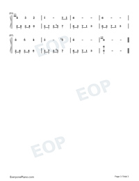 Melody Of The Night 2-Numbered-Musical-Notation-Preview-3