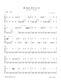 My Heart Will Go On-Titanic Theme-Numbered-Musical-Notation-Preview-1