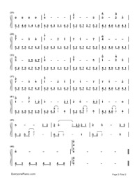 My Heart Will Go On-Titanic Theme-Numbered-Musical-Notation-Preview-2