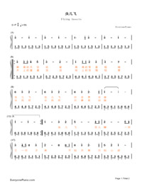 Insects Fly-The Storm Riders OST-Numbered-Musical-Notation-Preview-1