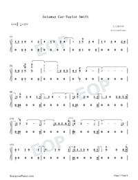 Getaway Car-Taylor Swift両手略譜プレビュー1