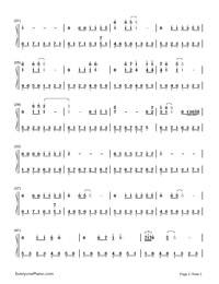 The Sound of Silence Numbered Musical Notation Preview 2
