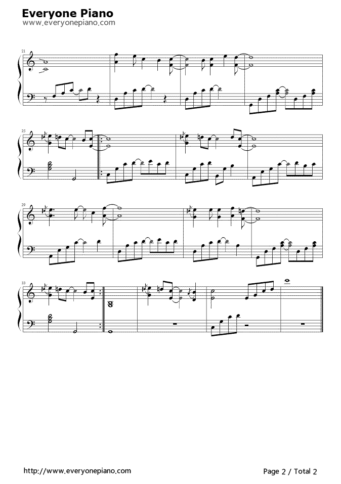 You Are Not Alone Stave Preview 2 Free Piano Sheet Music Piano Chords