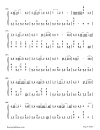 Yuki No Hana-Numbered-Musical-Notation-Preview-5