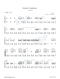 Couleur Tendresse-Numbered-Musical-Notation-Preview-1