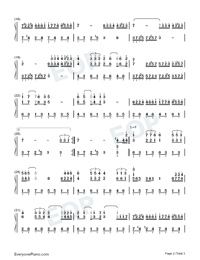 Couleur Tendresse-Numbered-Musical-Notation-Preview-2