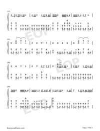 Trouble is a friend-Numbered-Musical-Notation-Preview-2