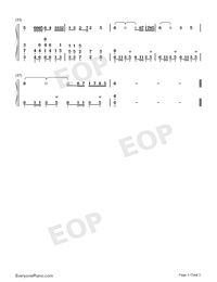 Trouble is a friend-Numbered-Musical-Notation-Preview-3