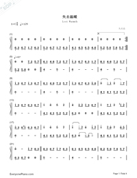 Lost Warmth-Numbered-Musical-Notation-Preview-1