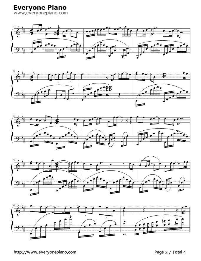 Piano a thousand years piano sheet music : After a Thousand Years Stave Preview 3- Free Piano Sheet Music ...
