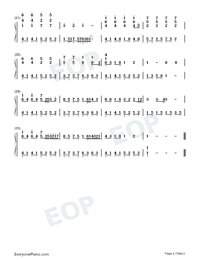 I Really Hurt-Numbered-Musical-Notation-Preview-2