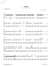 East Wind-Numbered-Musical-Notation-Preview-1