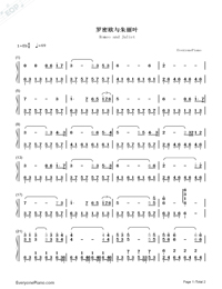 Romeo and Juliet-Numbered-Musical-Notation-Preview-1