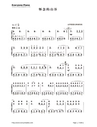 The Valley That I Miss-Numbered-Musical-Notation-Preview-1
