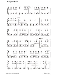 The Valley That I Miss Numbered Musical Notation Preview 2