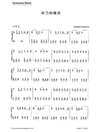 Dolannes Melody Numbered Musical Notation Preview 1