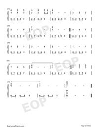 優しい人にいい夢を-孫悦-EOP魔鬼訓練営練習曲両手略譜プレビュー2
