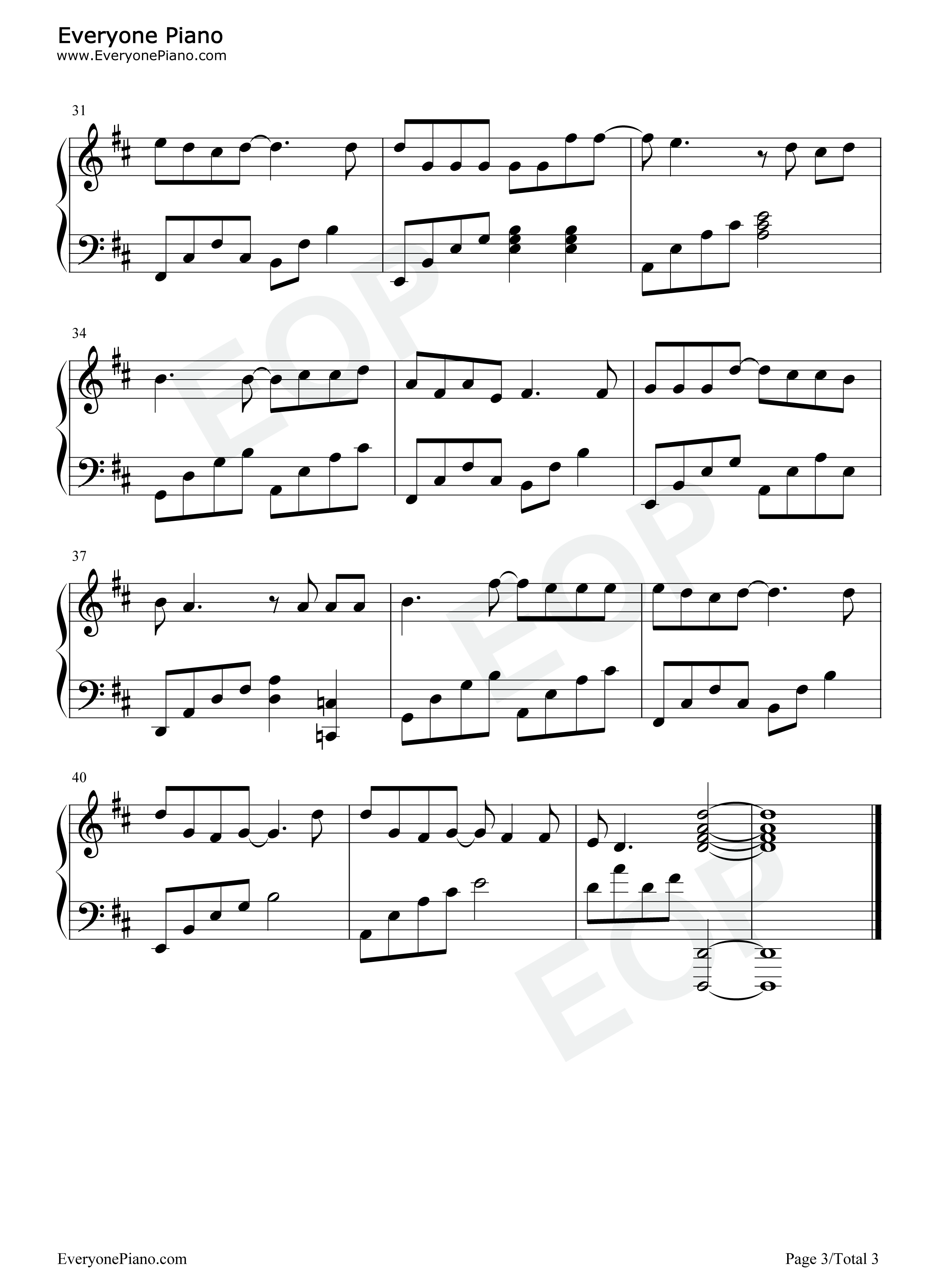 Confessing Eop Demon Training Camp Stave Preview 3 Free Piano Sheet